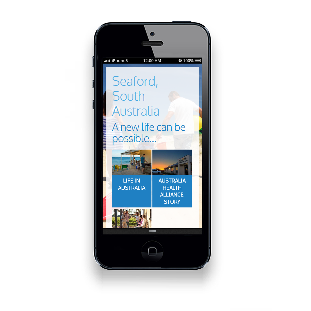 website on smartphone and tablet